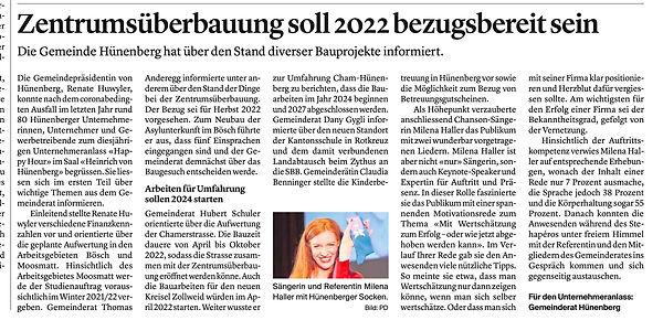 Zuger Zeitung, Milena Haller, TAKE OFF.jpg