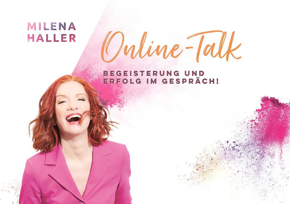 Logo Milena Haler Online-Talk mit Foto q