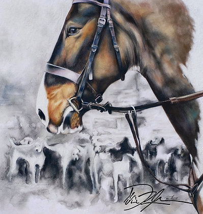 Equine Artist Dani Rose offers unique original works of art and custom horse art drawn and painted from your photos.