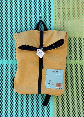 Street bag amarilla bolsillo azul