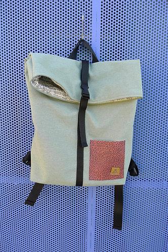 Street bag menta bolsillo lunares teja