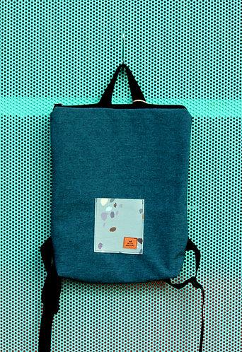 Street bag azul océano con bolsillo azul clarito