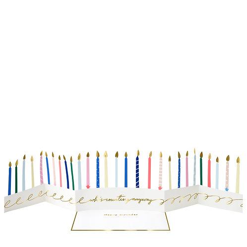 Meri Meri 3D Karte Geburtstagskerzen