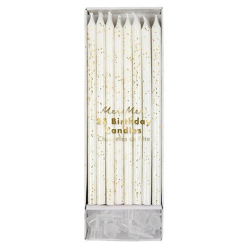 Meri Meri Gold Glitter Kerzen