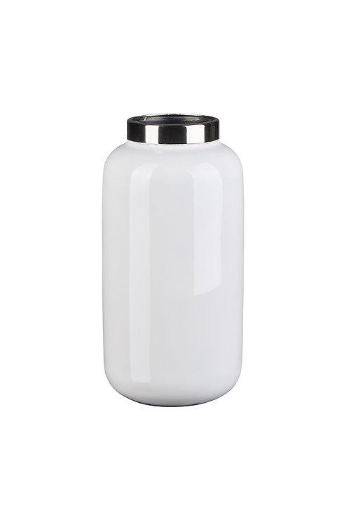 Vase Saigon XS weiß/silber