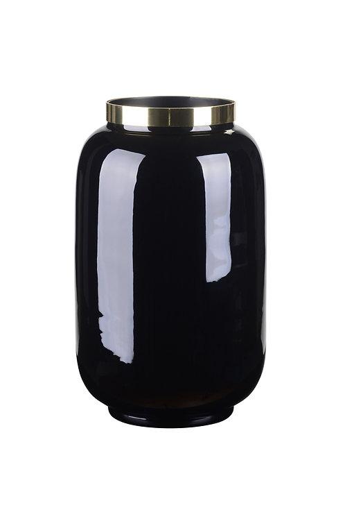 Vase Saigon S schwarz/gold