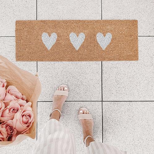 Eulenschnitt Fußmatte - Herzen