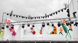 Creación de flores volumétricas para escenario, 2021.