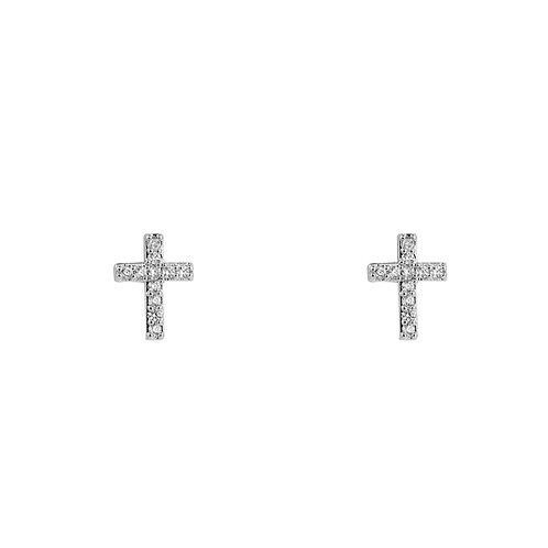 "Ohrringe ""Silver Cross"""