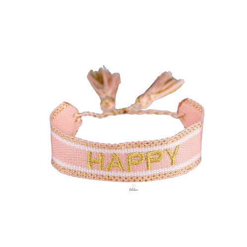 """Armband """"Happy"""" rosa"""