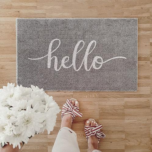 Eulenschnitt Waschbare Fußmatte - Hello