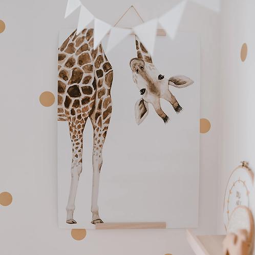 Eulenschnitt Wandbild Giraffenposter
