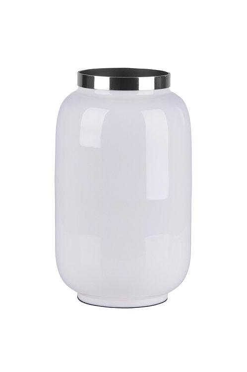 Vase Saigon S weiß/silber