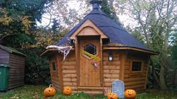 Halloween Cabin outside