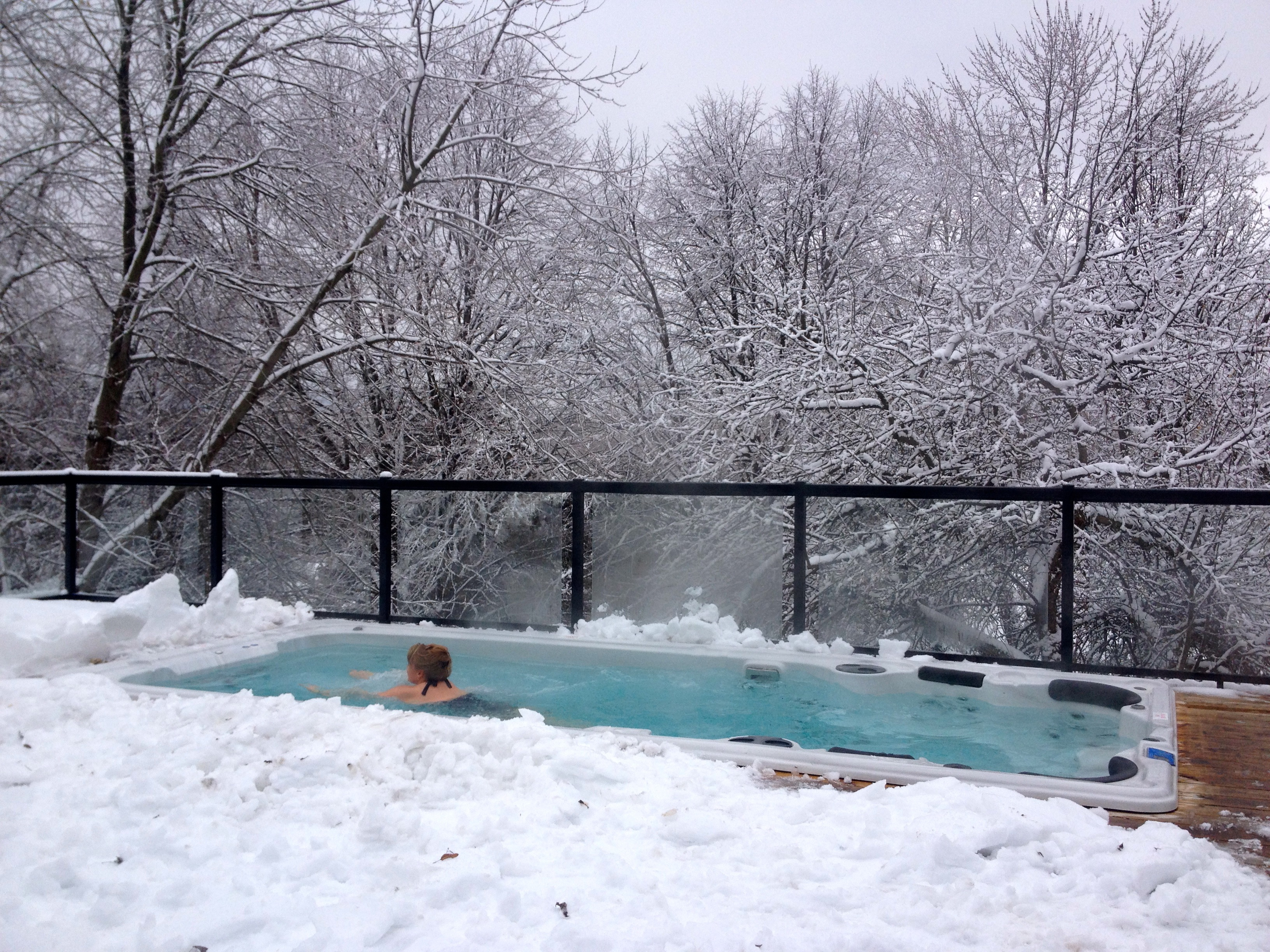 Hydropool Swim Spa in Winter