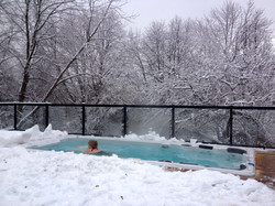 Hydropool Swim Spa in Winter