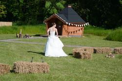 Arctic Cabin wedding party