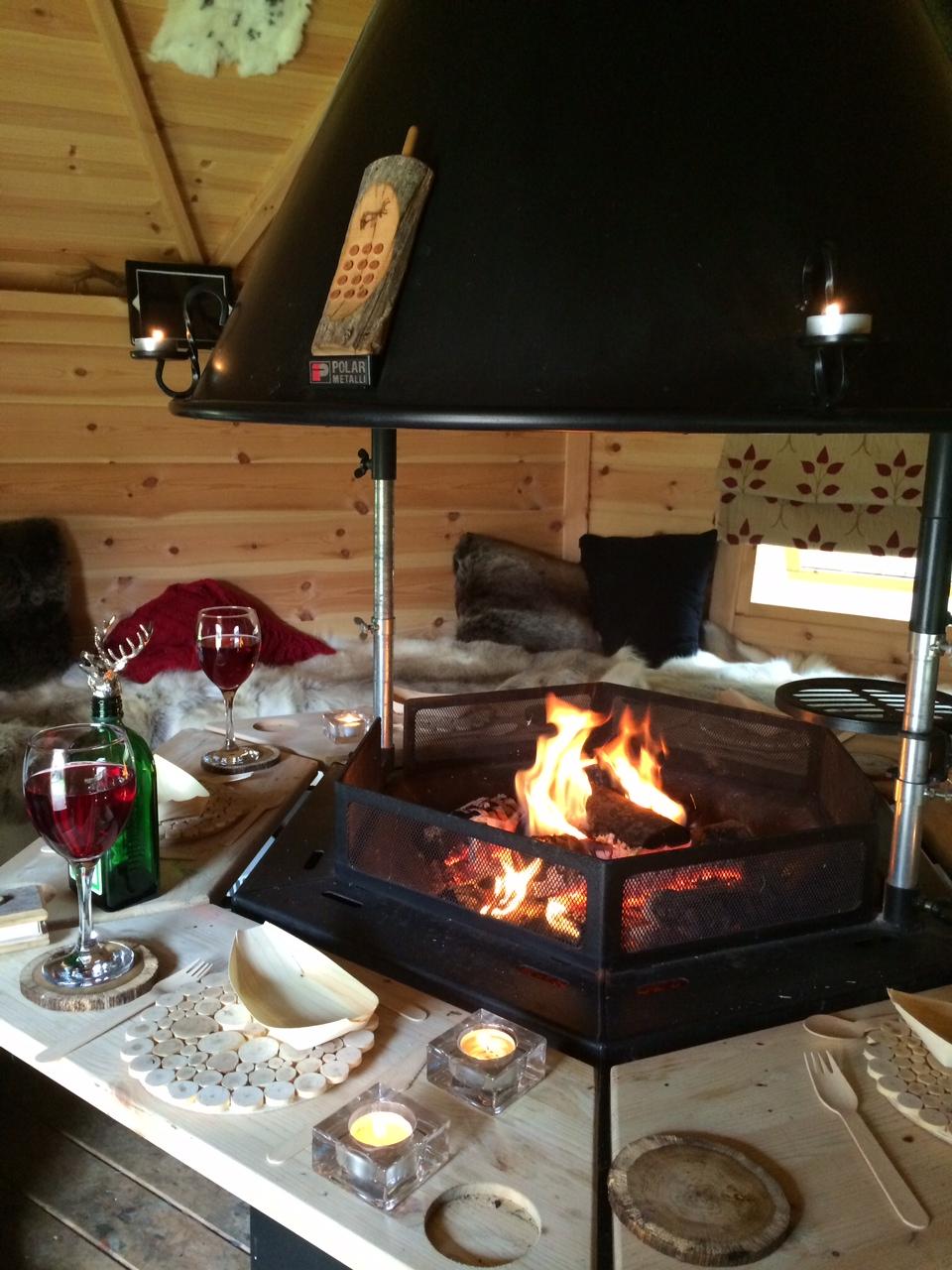 Arctic cabin fire pit