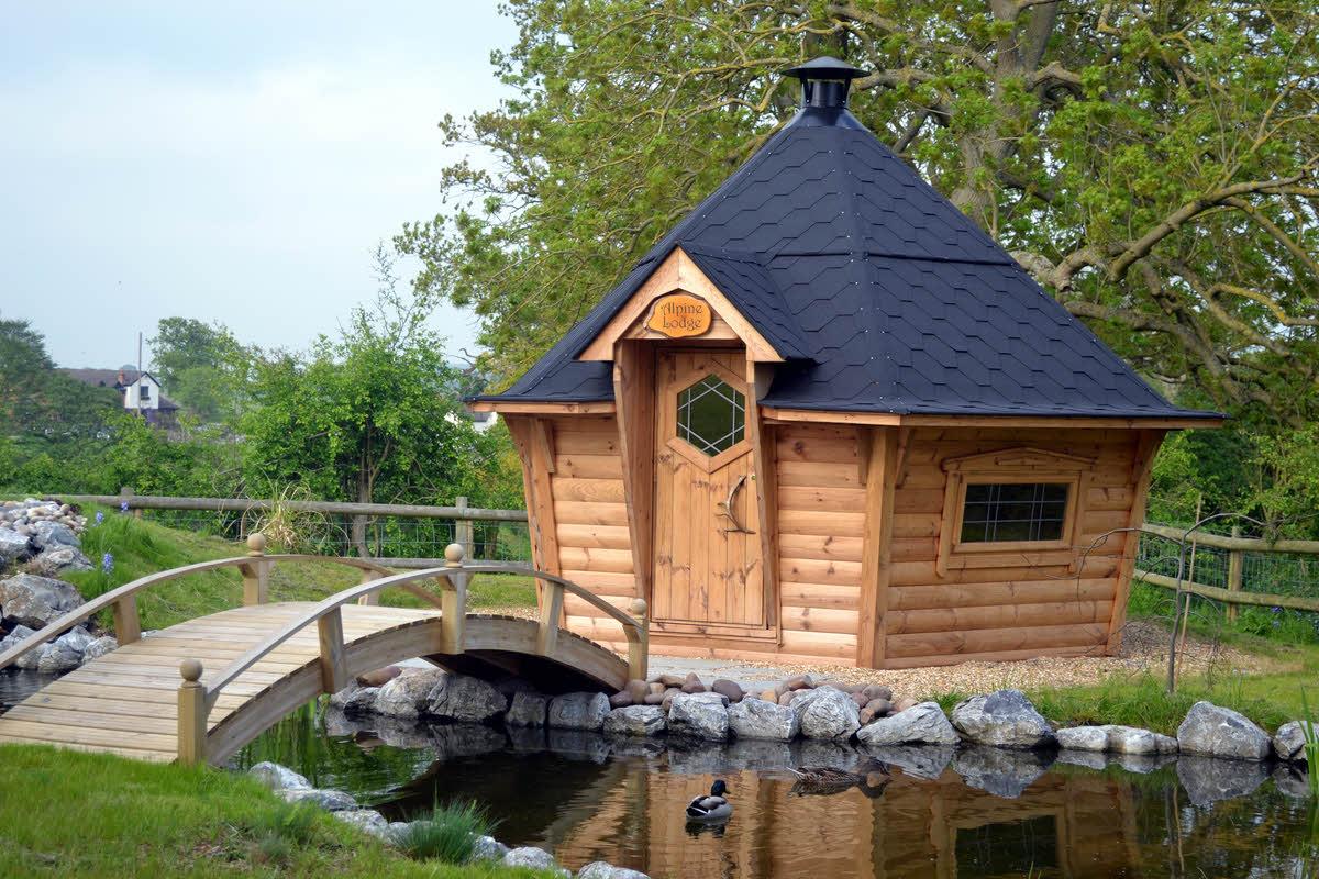 Arctic Cabin pond & bridge