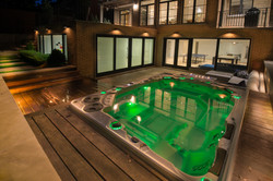 Hydropool Swim Spa mood lighting