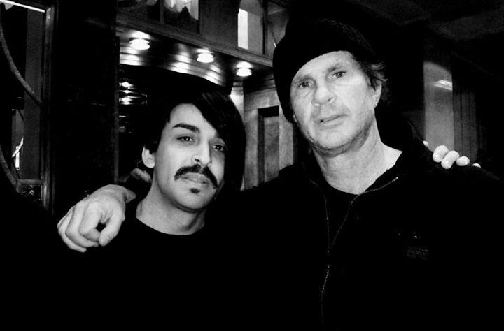 Luiz Fernando e Chad Smith em Londres 2011
