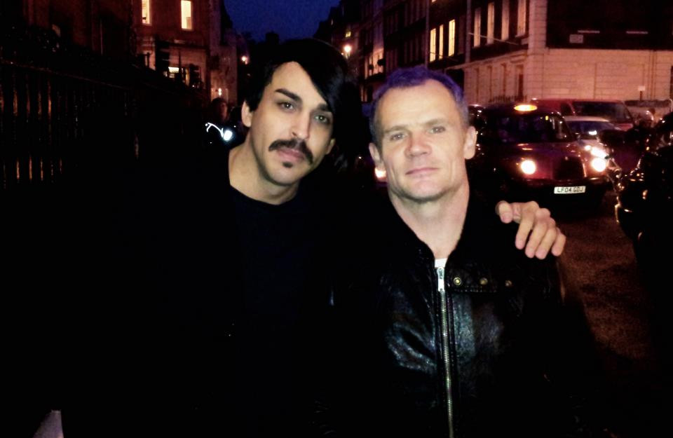 Luiz Fernando e Flea em Londres 2011