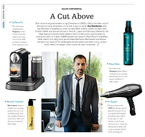 Joe Randazzo, owner of J Salon featured in Modern Luxury Hawaii Magazine.