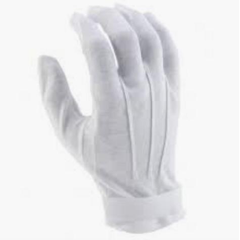White Practice Gloves - 2 pair