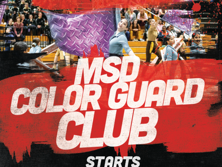 COLOR GUARD CLUB TODAY Wednesday November 18th!