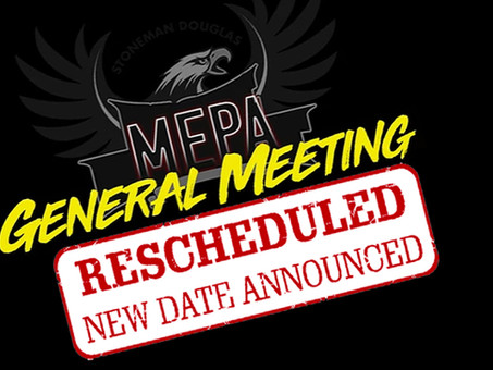 MEPA MEETING RESCHEDULED!
