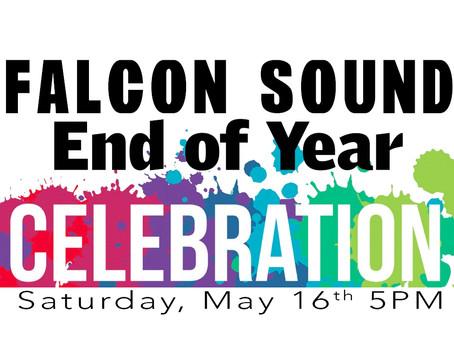 FALCON SOUND VIRTUAL BANQUET THIS SATURDAY!
