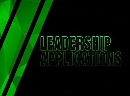 LEADERSHIP STAFF APPLICATION NOW ONLINE!
