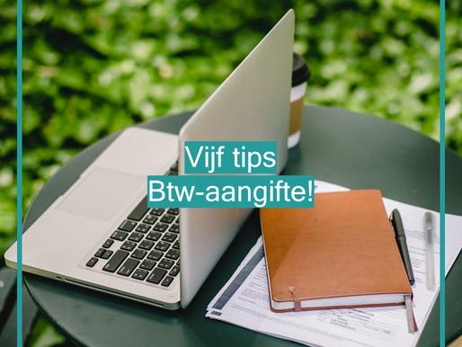 Vijf tips voor jouw btw-aangifte