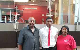 Stefon McLeod and Parents