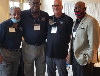 (L-R) Mr. R Wynn, Bill Hayes and Wake Forest Coach, Steve Forbes.