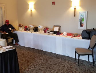 Auction Table Manned by WSSU Hall of Fame Voice Al Rosboro.
