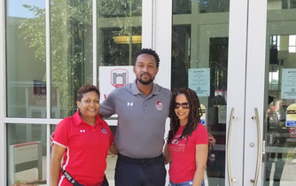 Coaches: Nesheila Washington (cheer), Charles Penny (golf), and Sharon Scott (volleyball)