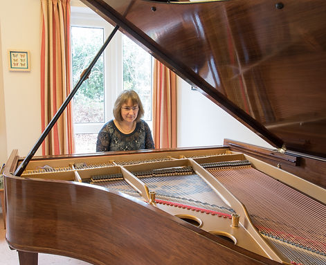 Alison playing Steinway grand