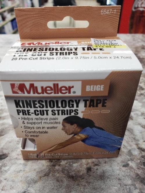 Kinesiology Tape Precut strips Beige