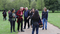 The crew gets to Kensington Gardens