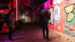 Geet & Gordon experimenting in Leake Street