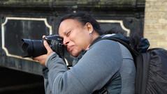 Geet mastering her Nikon
