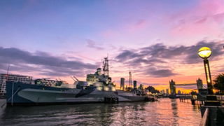 HMS Belfast Sunrise