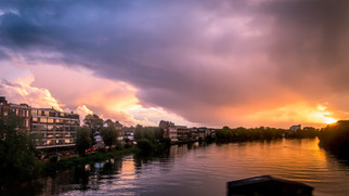 Stormy Sunset over Barnes