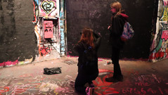 Tessa & Diana experimenting with colour in Leake Street