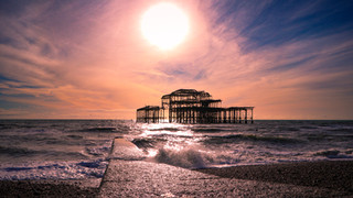 West Pier by Sunset