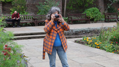 Ruth capturing me capturing her