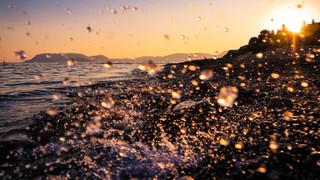 Surf Spray at Sunset