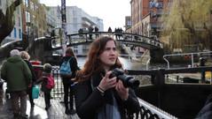 Diana taking in Camden Lock