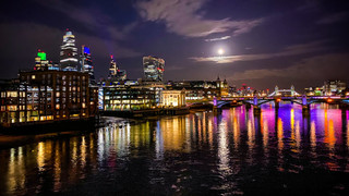 Moon & Mars over The City